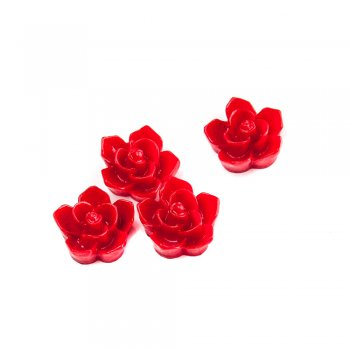 Пластикові клейові елементи. Квітка червона