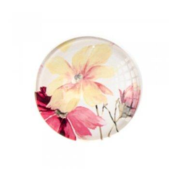 Кабошон скло Жовта квітка. кабошони скляні