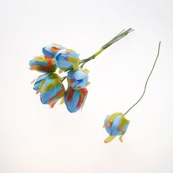Штучні квіти блакитний 16 мм