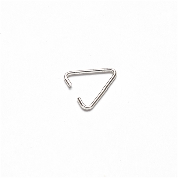 Крепления для подвесок серебро треугольник