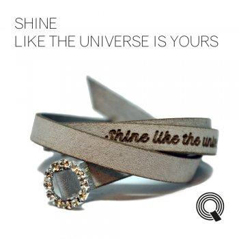 """Браслети квоутлети """"Shine like the universe is yours"""", сіро-сріблястий"""