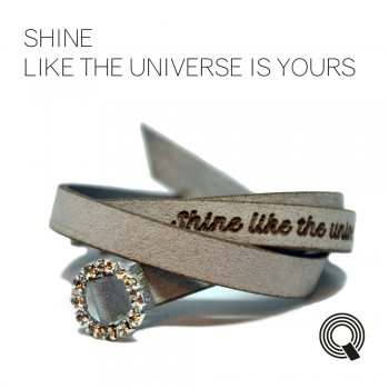 "Браслеты квоутлеты ""Shine like the universe is yours"", серо-серебристый"