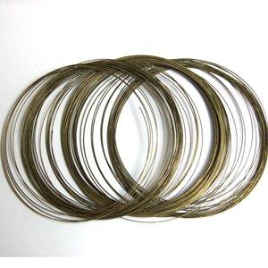 Жесткая основа для ожерелья металлическая тонкая