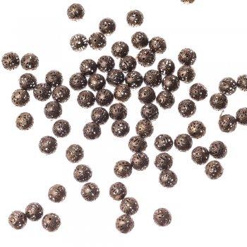 Ажурные бусины бронзовый 10 мм