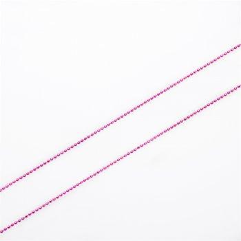 Ланцюг фігурний , кольору фуксії гранований по екватору