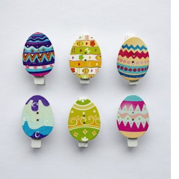 Прищіпка дерев'яна Великоднє яйце