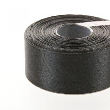 Атласна стрічка. Чорний. 30 мм.