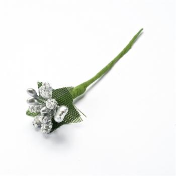 Декоративний елемент тичинка срібляста квітка