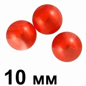 Пластикові кабошони опуклий червоне коло 10 мм