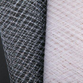 Кружево-вуаль 25 см белый