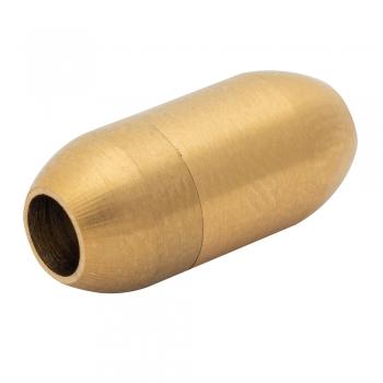 Застібка для шнурків металева капсула 4 мм золота