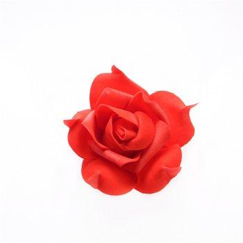 Искусственные цветы роза красная