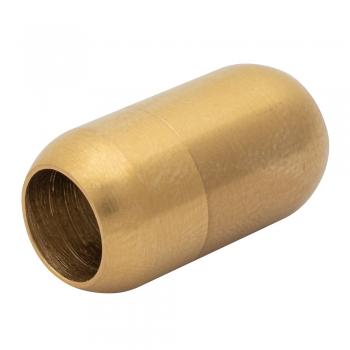 Застібка для шнурків металева капсула 6 мм золота