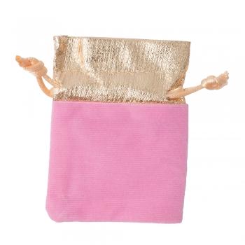 Декоративный мешочек бархатный 9х7 см розово-золотой