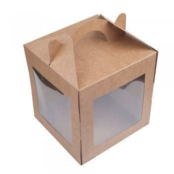 Коробочка картонна 16 * 16 * 19 см
