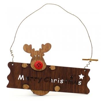 Підвіска дерев'яна Merry Christmas