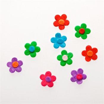 Текстильные дутые элементы цветок 15 мм