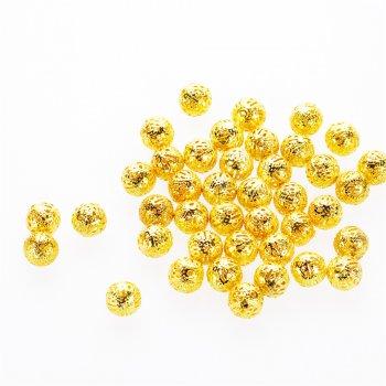 Ажурные бусины золотые