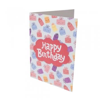 Открытка 104х80 Happy Birthday подарочки
