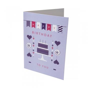 Открытка 104х80 Happy Birthday двухъярусный торт