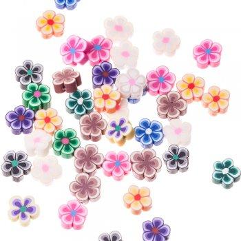 Намистини з полімерної глини, мікс кольорів, 14 мм