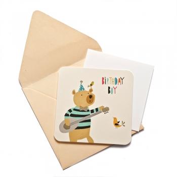 Открытка с конвертом Birthday Boy