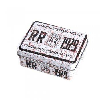 "Коробочка жестяная прямоугольная 8х6х3,2 см ""Rolls Royce 1929"""