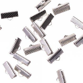 Зажимы для лент серебристый 16 мм