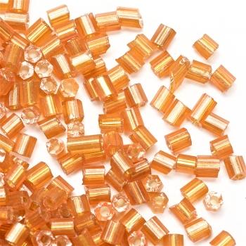 Бісер-рубка помаранчевий 2.1 мм сольгель скло