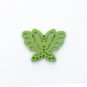 Дерев'яна підвіска Метелик Зелений