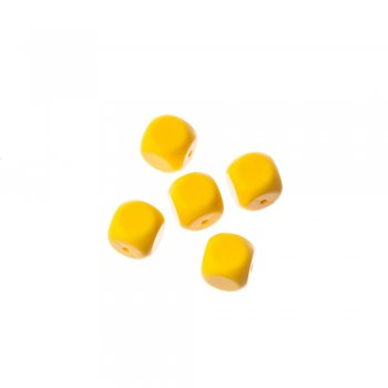 Намистина силіконова жовта, 16 мм