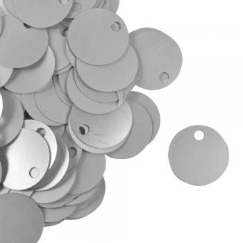 Паєтки для в'язання 40 гр сріблясті матові