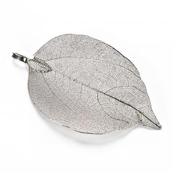 Кулон металлический Серебристый лист