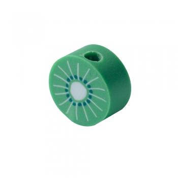 Бусина из полимерной глины Киви зеленый 10 мм