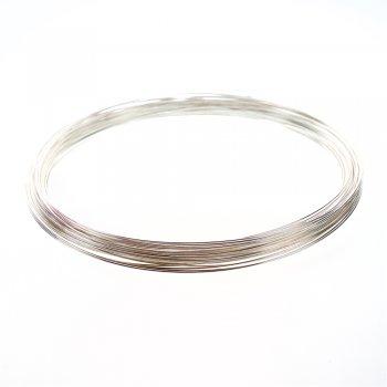 Основа-проволока с памятью, для ожерелья. Серебро. Диаметр 120 мм, толщина 0,7 мм.