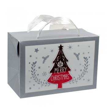 Пакет-коробка картонна 18х12х9см