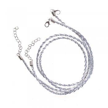 Основа для кулона сріблястий металік шкірзам 3 мм