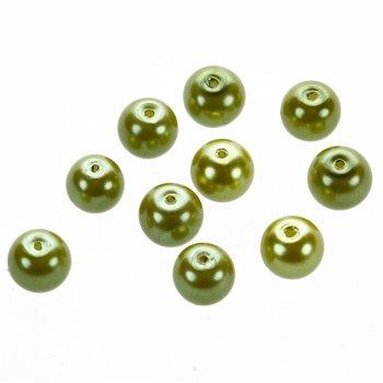 Перли скляні гл. приглушено-салатовий