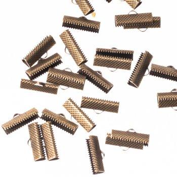 Затискачі для стрічок бронза 18 мм