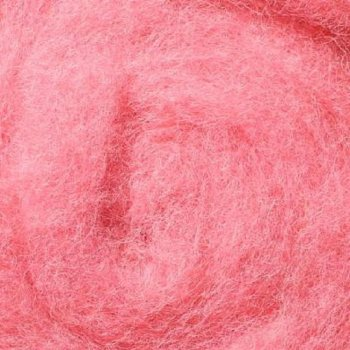 Шерсть новозеландська кардочёсанная темно-рожева 25г, К4010