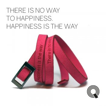 "Браслеты квоутлеты ""There is no way to happiness. Happiness is the way"", розовый"