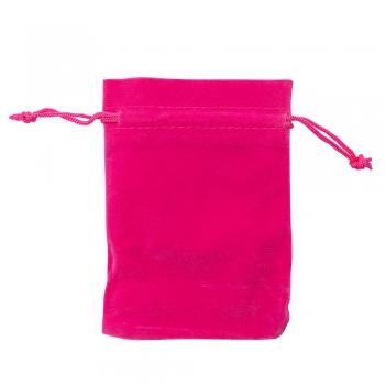 Декоративный мешочек бархатный 11х9,5 см малиновый
