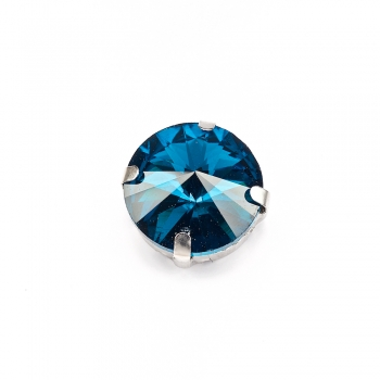 Стрази скляні пришивні в металевій оправі (уп2шт)