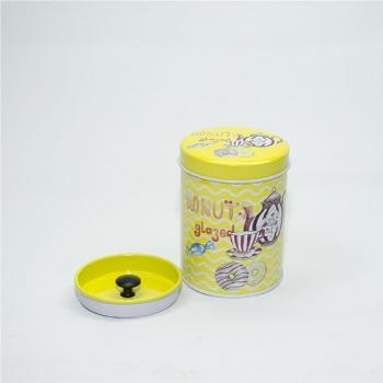 Коробочка жестяная цилиндрическая 6,5х9 см