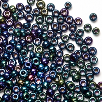 Бісер круглий, дрібний, райдужний ірис. Калібр 12 (1,8 мм)