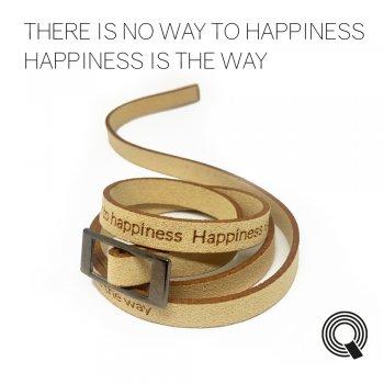 """Браслети квоутлети """"There is no way to happiness. Happiness is the way"""", бежевий"""