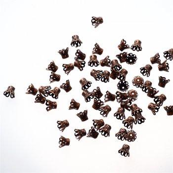 Конуси ажурні мідь 8 пелюсток