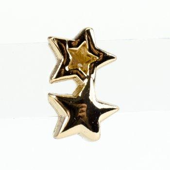 Бусина слайдер Две звезды лимонное золото