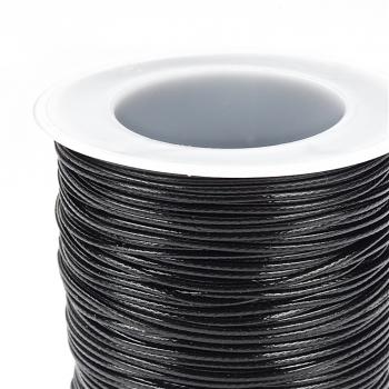 Плетений шнур чорний, поліестер 1 мм