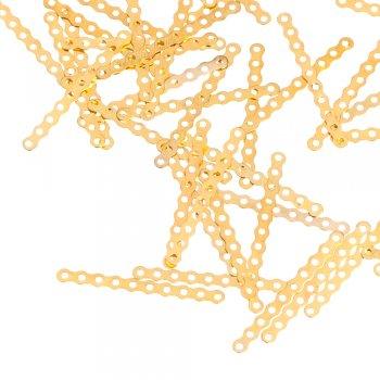 Планки многорядные золотой вытянутая плоская 35 мм